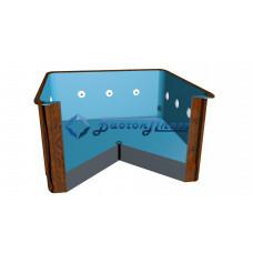 Купель прямоугольная с гидромассажем Высота 1200 мм
